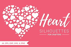 Heart Silhouettes for Crafters