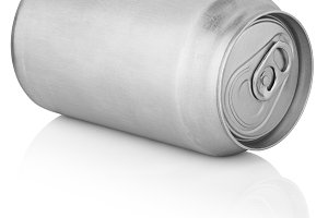 330 ml aluminum can isolated on white
