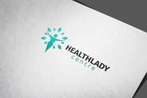 Health Lady Logo Template