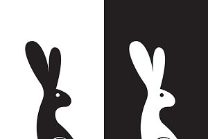 Vector image of a rabbit design
