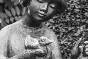 Sculpture of Girl with Duck