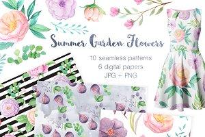 Summer Floral Seamless Patterns