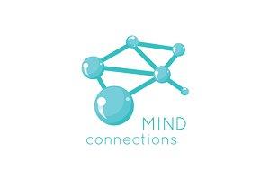 Mind Connection Logo Science Design