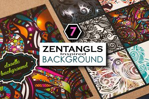 6 Zentangle Inspired pattern set_2.