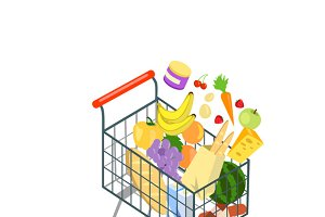 Shopping Trolley Products Food