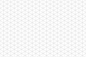 Gray isometric grid seamless pattern
