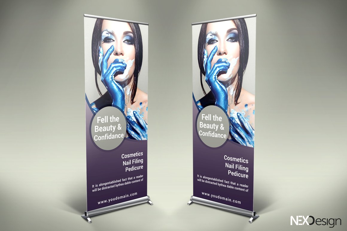 Cosmetic Roll Up Banner Sk Creative Photoshop Templates Creative Market