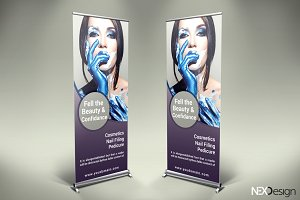 Cosmetic Roll-Up Banner - SK