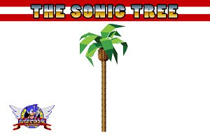 'Sonic' palm tree vector
