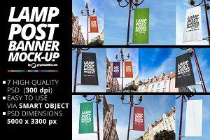 Lamp Post Banner Mockups