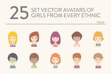 25 vector avatars of girls vol.01
