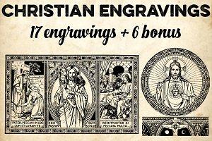 CHRISTIAN ENGRAVINGS + 6 BONUS