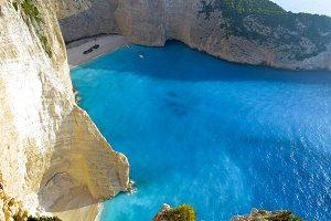 Idyllic view of beautiful Navagio
