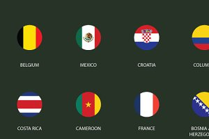 World Cup Flat Icons