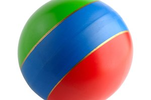 Colourful toy rubber ball