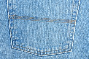 Back pocket on jeans