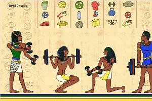 eGYMt GYM egypt papirus style