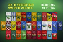 World Cup 2014 Wallpapers — 32 Teams