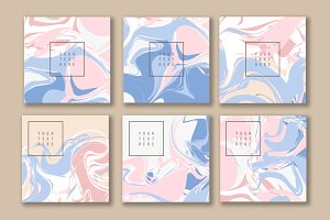 Set of Marble texture cards