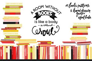 10 bookshelves backgrounds+ 5 quotes