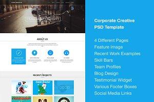 Corporate Creative PSD Template