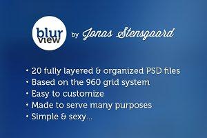 Blurview - PSD template