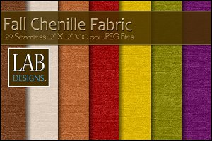 29 Fall Chenille Fabric Textures
