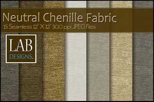 15 Neutral Chenille Fabric Textures