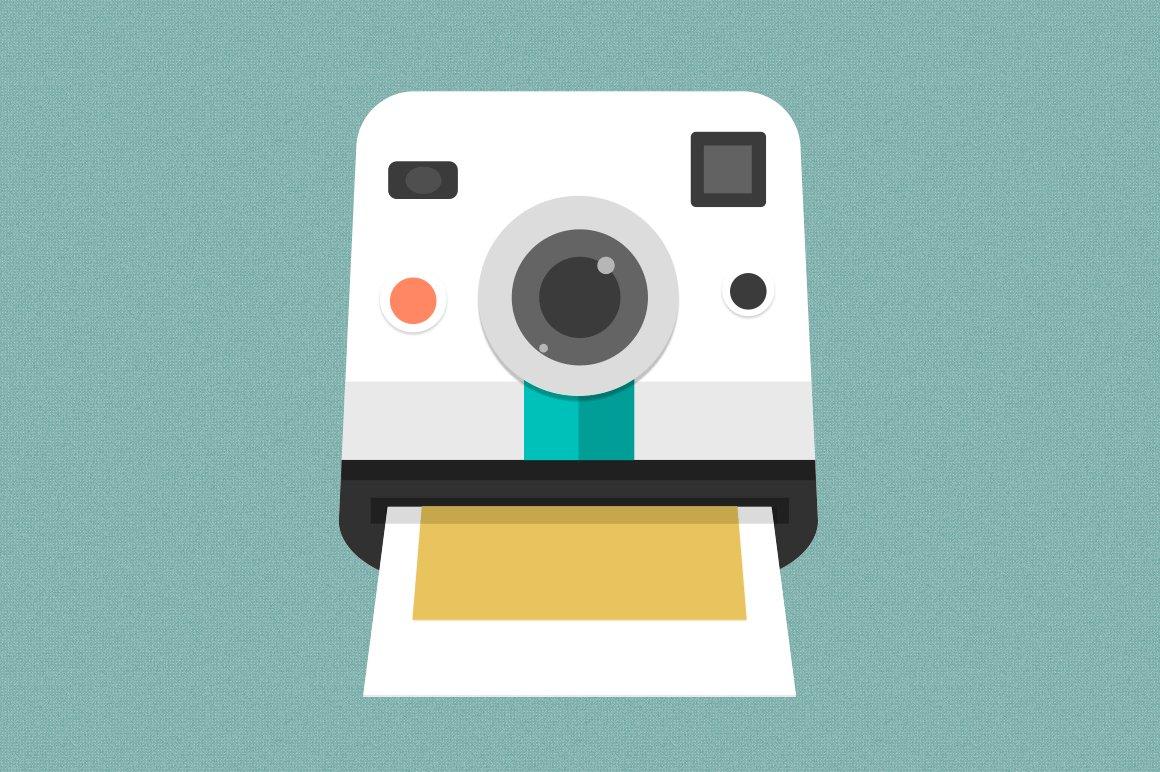 Polaroid Camera Icon Icons Creative Market