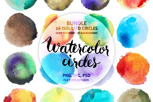 Colorful Watercolor Circles Clipart