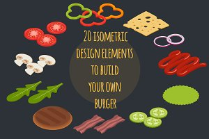 Burger & sandwich isometric builder