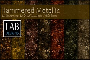10 Seamless Rustic Metallic Textures