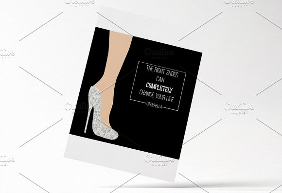 Inspired by Cinderella card. Vector - Illustrations