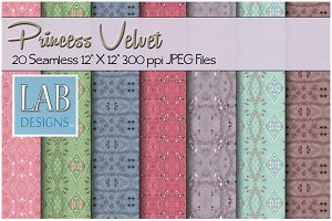 20 Princess Velvet Fabric Textures