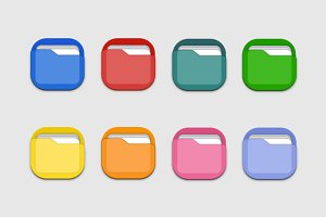 8 Colourful Folder Icons