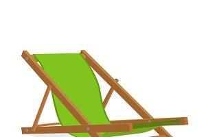 Beach lounge chair, design element