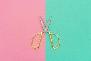 Vintage scissors Minimal concept