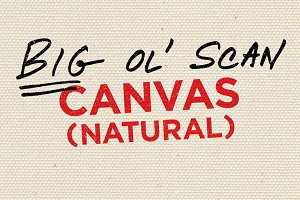 Canvas (Natural) — Big Ol' Scan