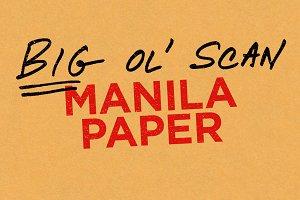 Manila Paper — Big Ol' Scan