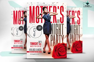Mothers Day Night Party Flyer