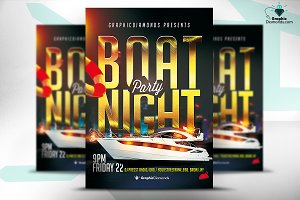Boat Party Flyer PSD