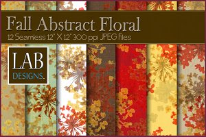 12 Abstract Floral Fabric Textures