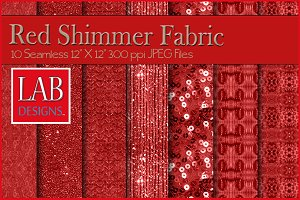 10 Seamless Red Shimmer Textures