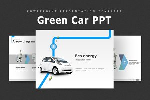 Green Car Animated PPT