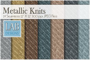 14 Metallic Knit Fabric Textures