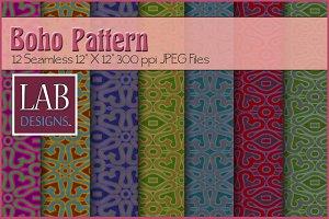 12 Seamless Boho Pattern Textures