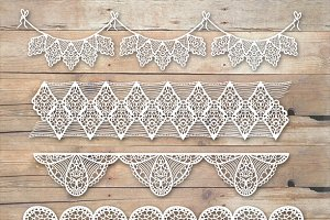 Wedding Lace Border Clipart