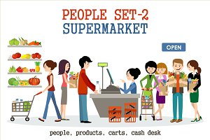 People in a supermarket