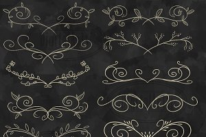 Elegant Hand Drawn Flourish Clipart
