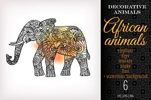 5 Decorative African Animals